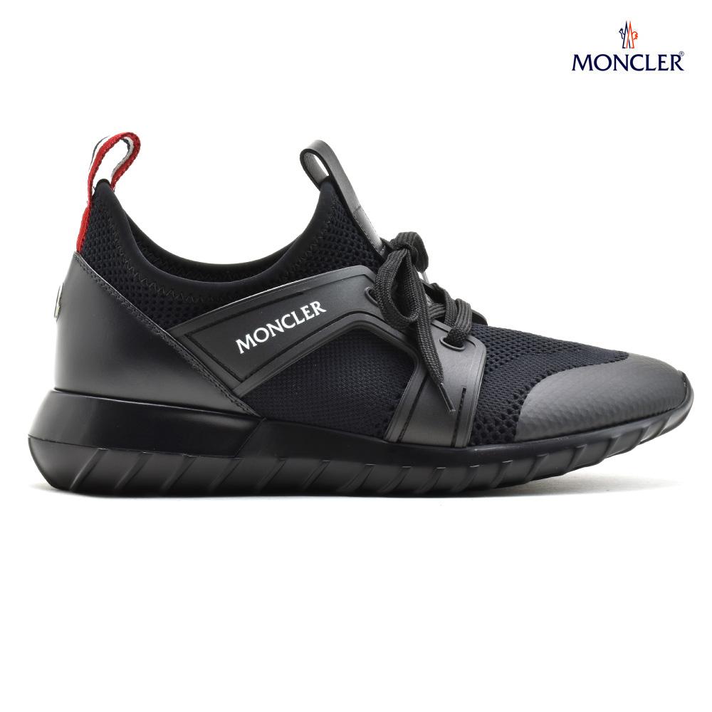 モンクレール MONCLER 10141.00 02S0P/999 EMILIEN BLACK エミリアン スニーカー ローカット シューズ 靴 ブラック 黒 メンズ