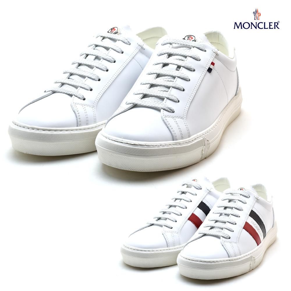 モンクレール MONCLER 10376.00 019MT/001 10376.00 01A9A/001 NEW MONACO モナコ レザー ローカット スニーカー ホワイト トリコロール メンズ