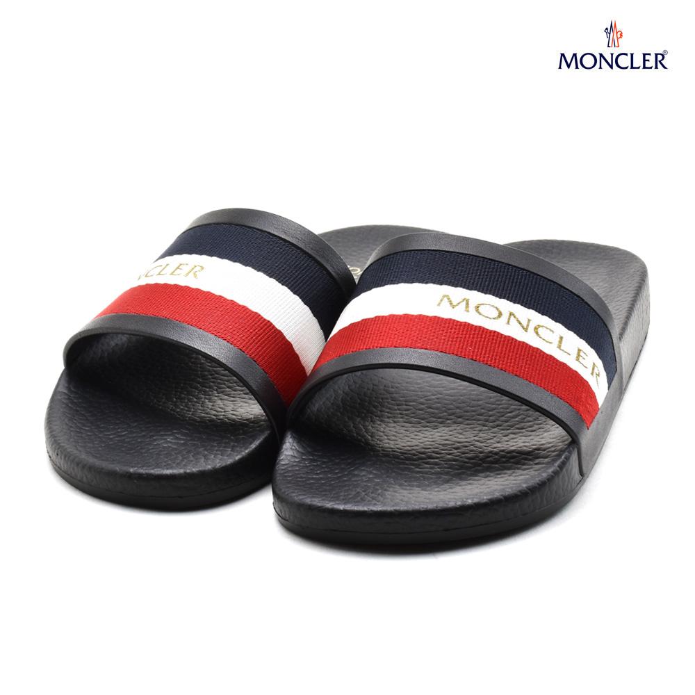 モンクレール MONCLER 20205.00 01878/999 JEANNE BLACK ジーニー サンダル シャワーサンダル ブラック 黒 レディース