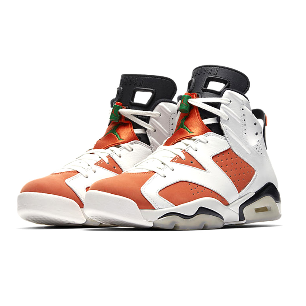36e312b26e3b0b Nike NIKE AIR JORDAN 6 RETRO LIKE MIKE GATORADE SUMMIT WHITE BLACK-TEAM  ORANGE 384