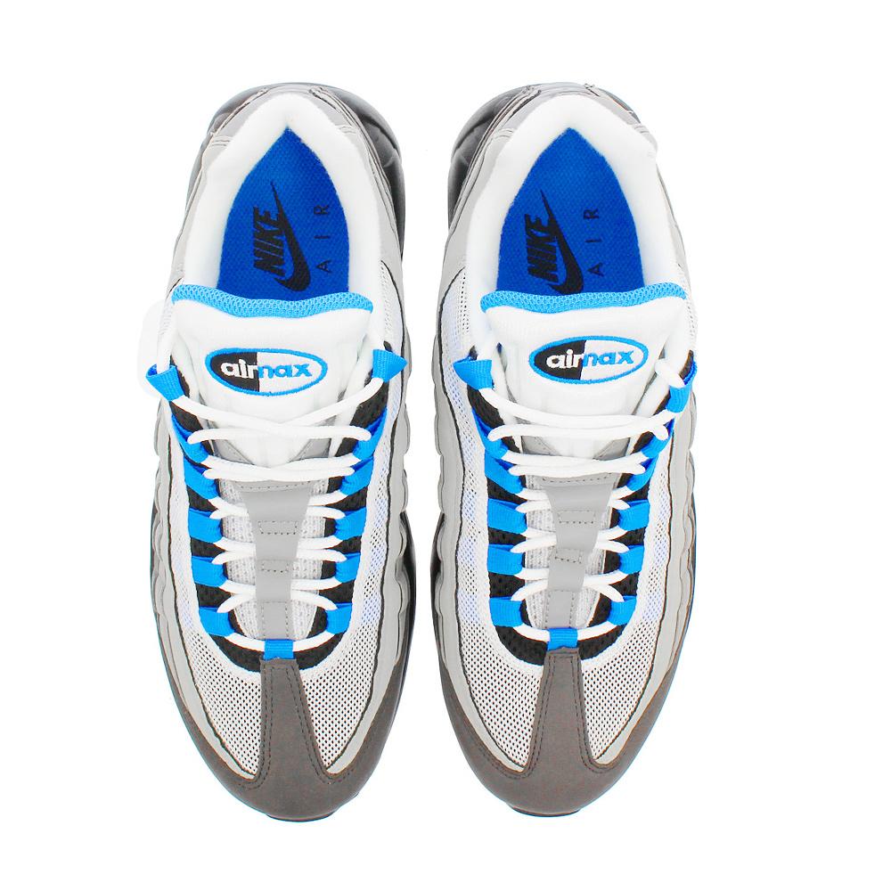 Cloud Shoe Company  Nike NIKE AIR MAX 95 WHITE CRYSTAL BLUE AT8696 ... 956b67c923