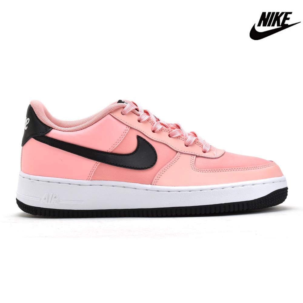 Nike NIKE AIR FORCE 1 LOW GS VALENTINE DAY BQ6980 600 air force 1 low GS Valentine's Day sneakers low frequency cut bleached Coral black white