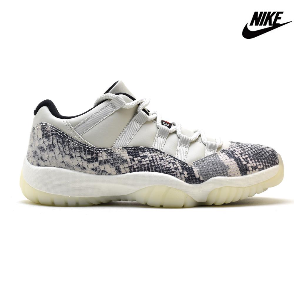 timeless design 7d4be f3cbe Nike NIKE AIR JORDAN 11 RETRO LOW LE CD6846-002 SNAKE SKIN LIGHT BONE Air  Jordan 11 nostalgic low LE off-white system men