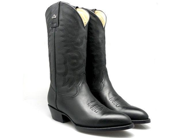 06224a5c4ca Pistoleros PISTOLERO 2119-A western boots and cow boy BLACK WAXY Western  boots black leather cowboy boots
