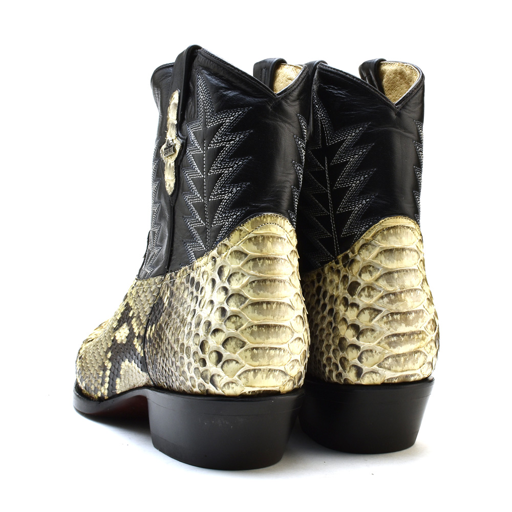 5b5a3783a35 ピストレロ PISTOLERO 2128 western boots black snake pattern python leather  genuine leather cowboy boot embroidery stitch westernboots cowboy