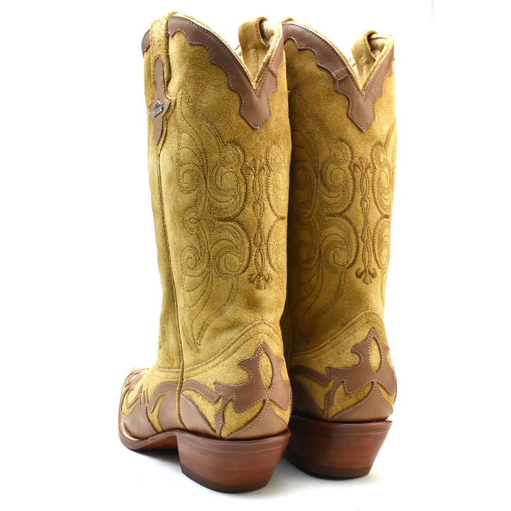 df6ec848cba ピストレロ PISTOLERO 3003 western boots Lady s brown beige leather genuine  leather cowboy boot embroidery stitch westernboots cowboy