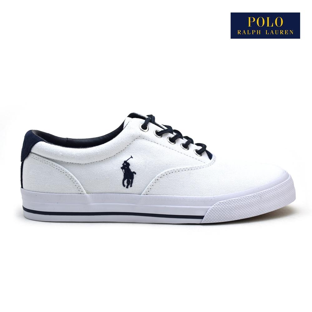 6b03bbc6ed ポロラルフローレンヴォ-ンピュアホワイト POLO RALPH LAUREN VAUGHN PURE WHITE 816641827003 WHITE  white white men canvas sneakers