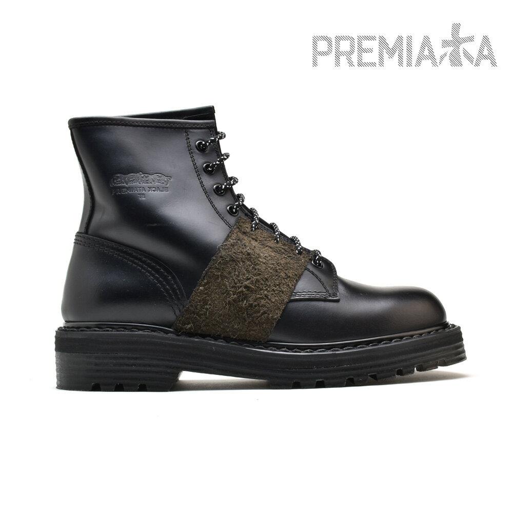 プレミアータ PREMIATA 31330 CICLONE ANKLE BOOT BLACK アンクルブーツ 8ホール ブラック 黒 メンズ 【送料無料】