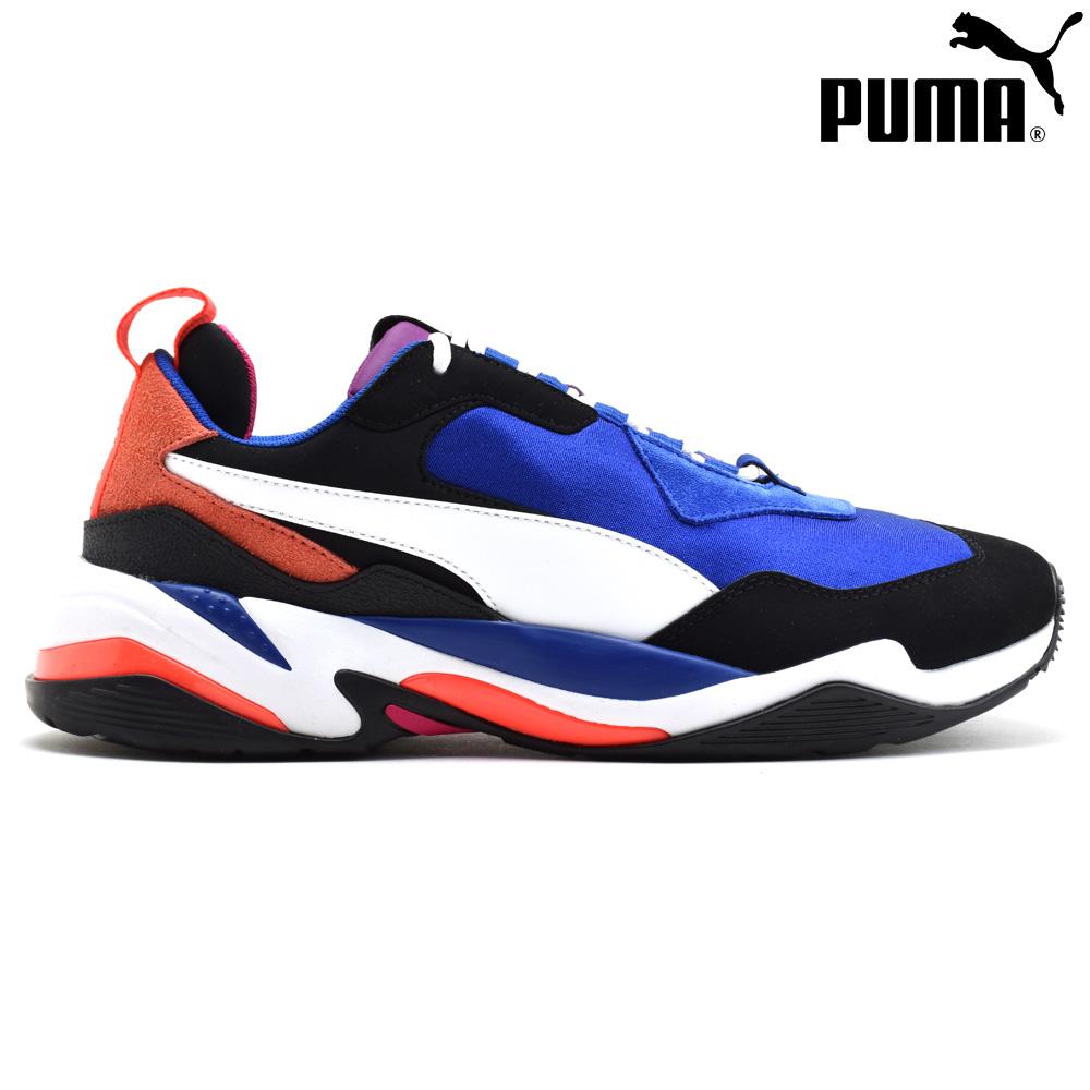 プーマ PUMA 36947101 THUNDER 4 LIFE - SURF THE WEB / PUMA WHITE サンダー4ライフ スニーカー ローカット ダッドシューズ ブルー 青 メンズ