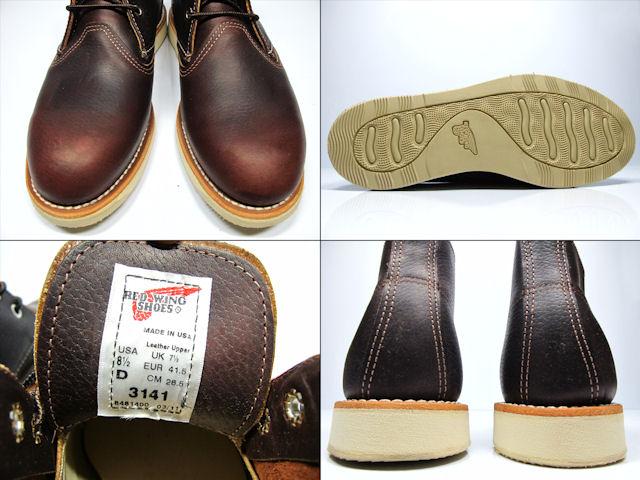 32687e97c8c Redwing RED WING 3141 CLASSIC CHUKKA Briar Oil Slick Red Wing Brier oil  slick leather classic Chuck 3141 ◆
