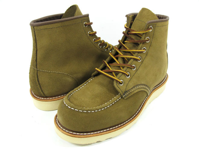 Red Wing REDWING 8881 6INCH CLASSIC MOC TOE 6-inch classic モカシントゥ boots leather Irish setter olive suede 8881 ◆