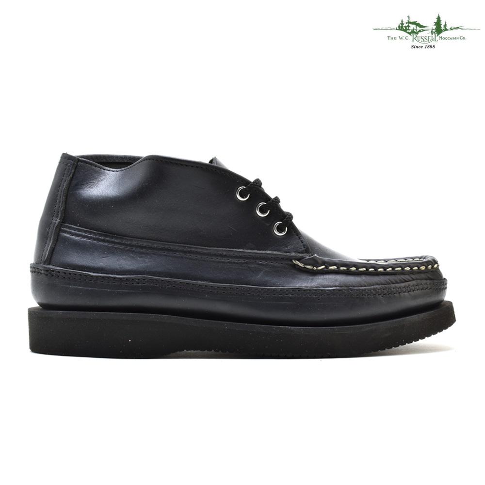 ラッセルモカシン スポーティング クレー チャッカ チャッカブーツ ビブラムソール 革靴 ブラック 黒 メンズ RUSSELL MOCCASIN 200-27 BLACK CHOROMEXEL【送料無料】