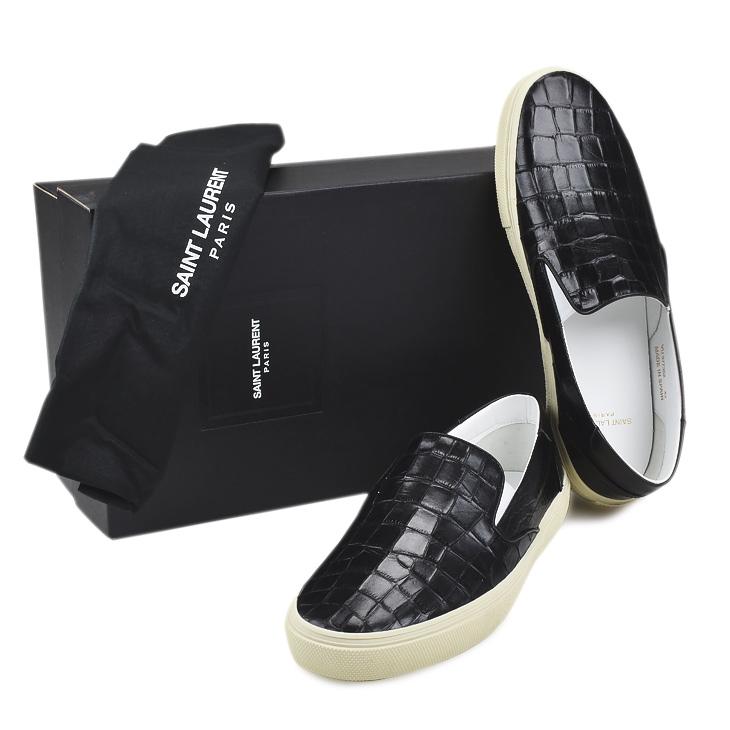 b8e9bec68e9ec YSL SAINT LAURENT PARIS Saint-Laurent 377362 BW400 1000 SHOES BLACK men    slip-ons   sneakers   shoes   shoes