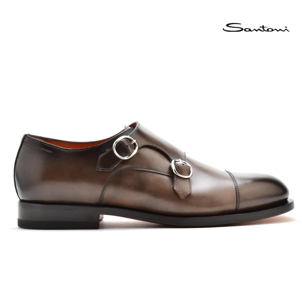 サントーニ Santoni MCCO13973JC6IRYCM48 ROYAL ダブルモンクストラップ ドレスシューズ ビジネスシューズ 革靴 ブラウン系 メンズ