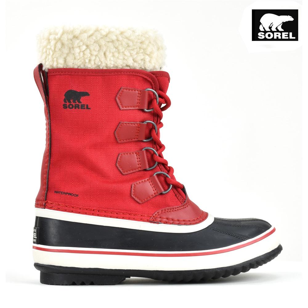 ソレル SORE 1855081-613 WINTER CARNIVAL Mountain Red ウィンターカーニバル スノーブーツ ロングブーツ ウォータープルーフ レッド 赤 レディース【送料無料】