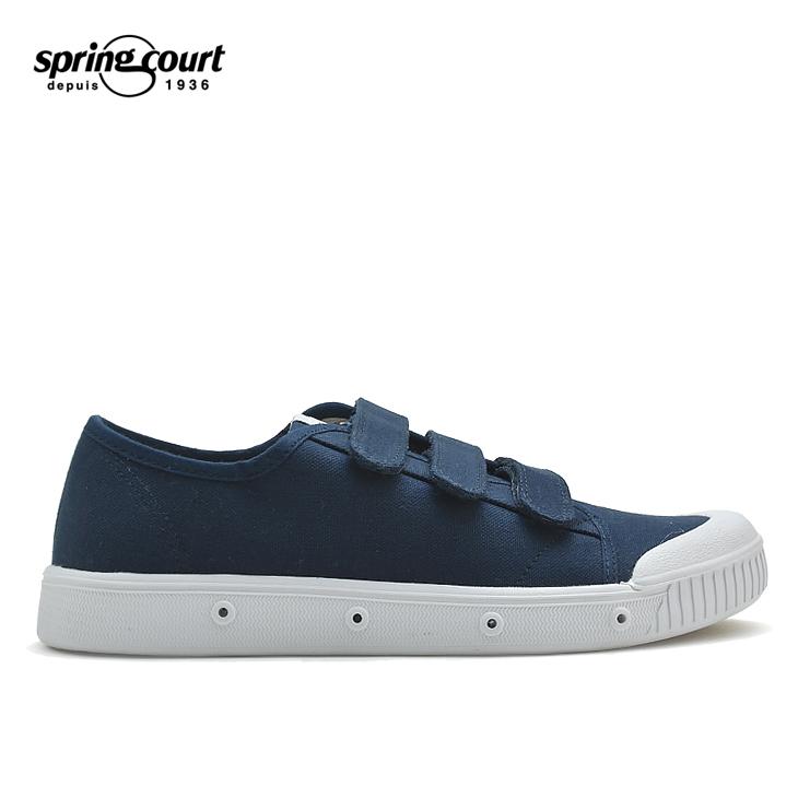 SPRING COURT スプリングコート GVN-1002-2 COTTON CANVAS MIDNIGHT BLUE ブルー 青 メンズ シューズ スニーカー 靴スニーカー