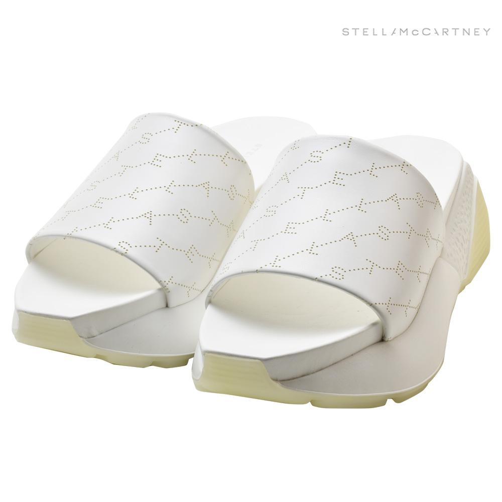 ステラマッカートニー STELLAMcCARTNEY 558884 W1G90/9000 SANDALS WHITE Eclypse サンダル エクリプス モノグラム フラットスライドサンダル シューズ 靴 ホワイト レディース【送料無料】