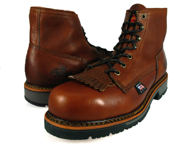 3f1d2ced683 6 804-4820 solo good THOROGOOD MOC TOE WORK BOOTS solo good work boots  oiled leather brown tea D EEE Wise
