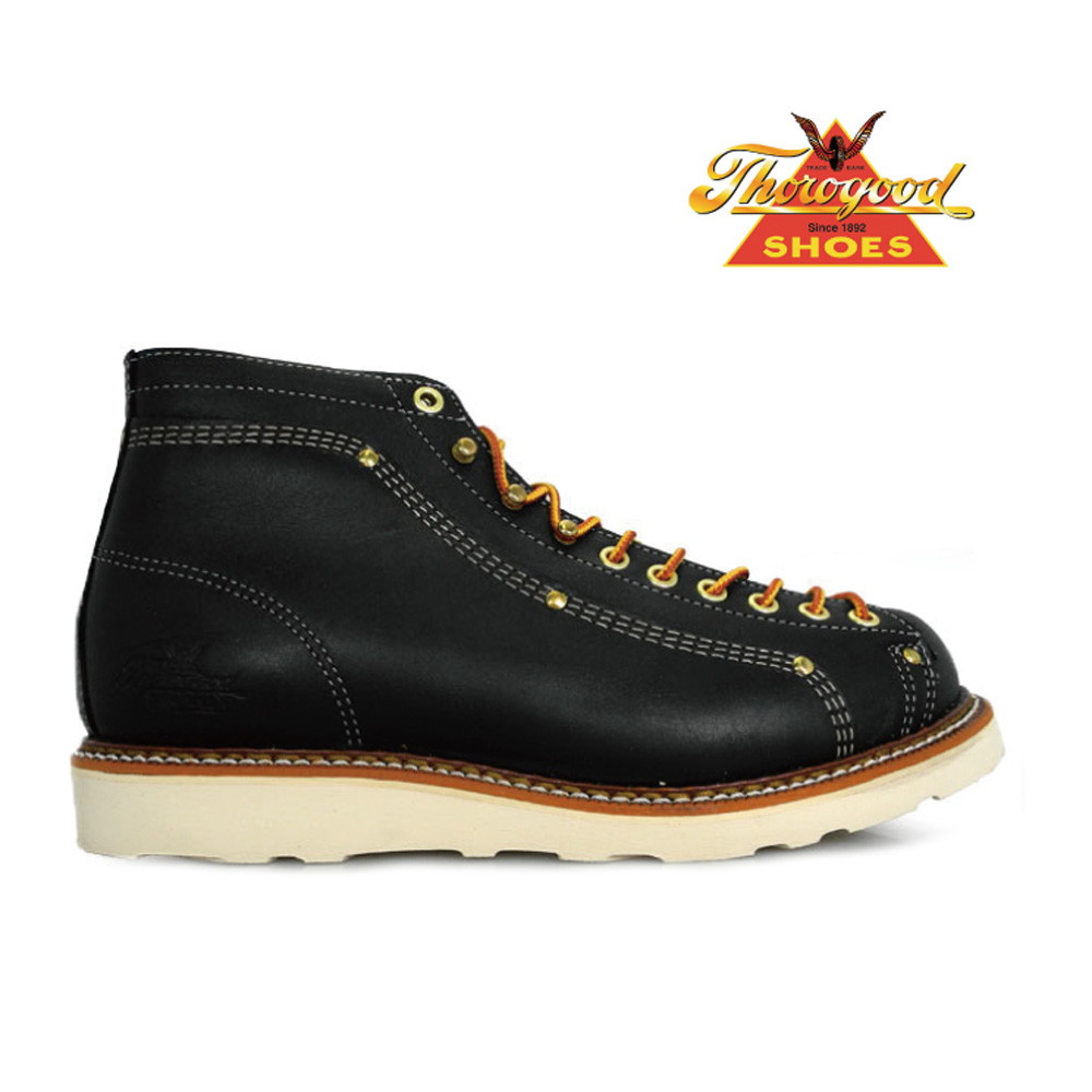e70f45a6e2ac6 Thorogood by THOROGOOD 814-6233 LACE TO TOE ROOFER Thorogood by Weinbrenner  Roofer boots Black Black EE wise