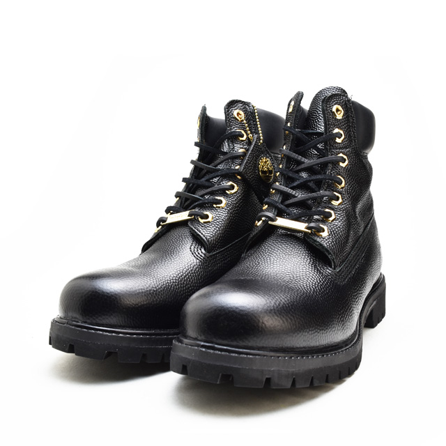 timberland 6 inch boots black leather