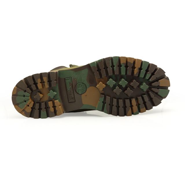 팀 버 랜드 6IN ICON PREMIUM BOOT ARMY GREEN NUBUCK WITH CAMO OUTSOLE TB06716B 남성 부츠 6 인치 프리미엄 부츠 워크 부츠