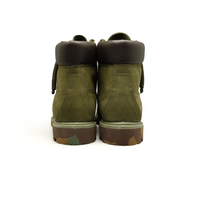 6 inches of Timberland Timberland ICON 6IN PREMIUM BOOT ARMY GREEN NUBUCK WITH CAMO OUTSOLE TB06716B men boots premium boots work boots