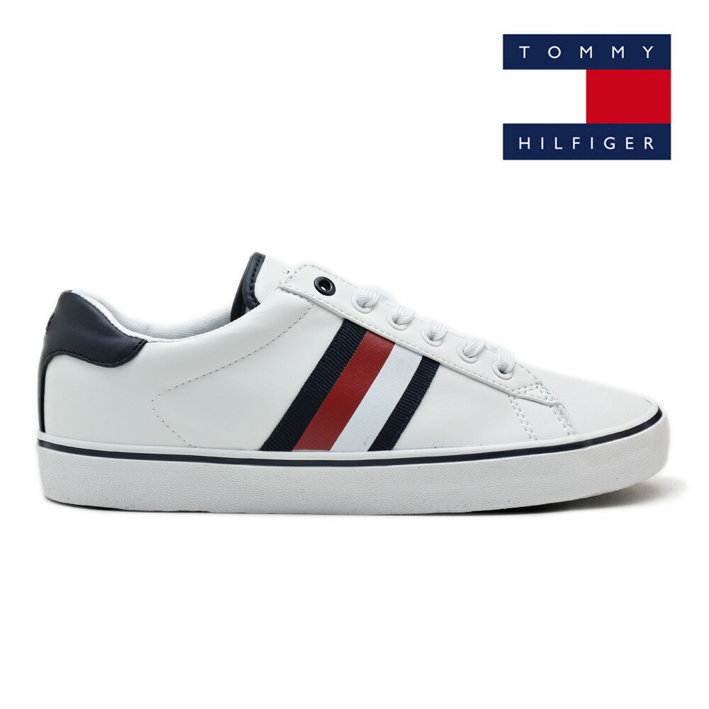 8f94e2110ee7 トミーヒルフィガー TOMMY HILFIGER PARIS WHITE Paris tricolor American casual casual white  sneakers men