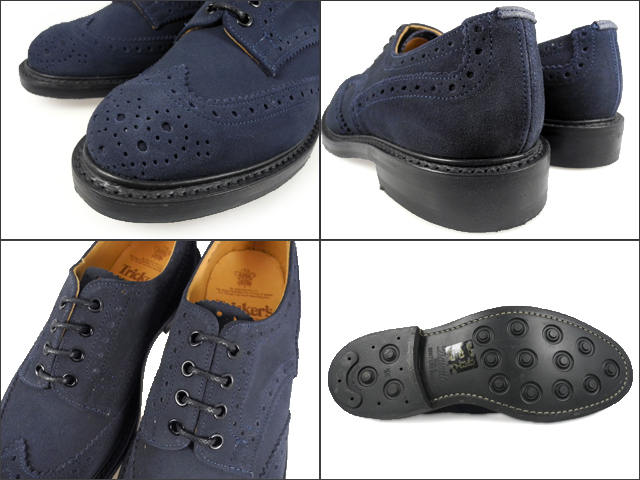 Trickers TRICKER's BOURTON BROGUE SHOES 5633 MIDNIGHTBLUE REPELLO SUEDE 5633 ダイナイトソール brogue shoes Midnight Blue リペロ suede Tricker's