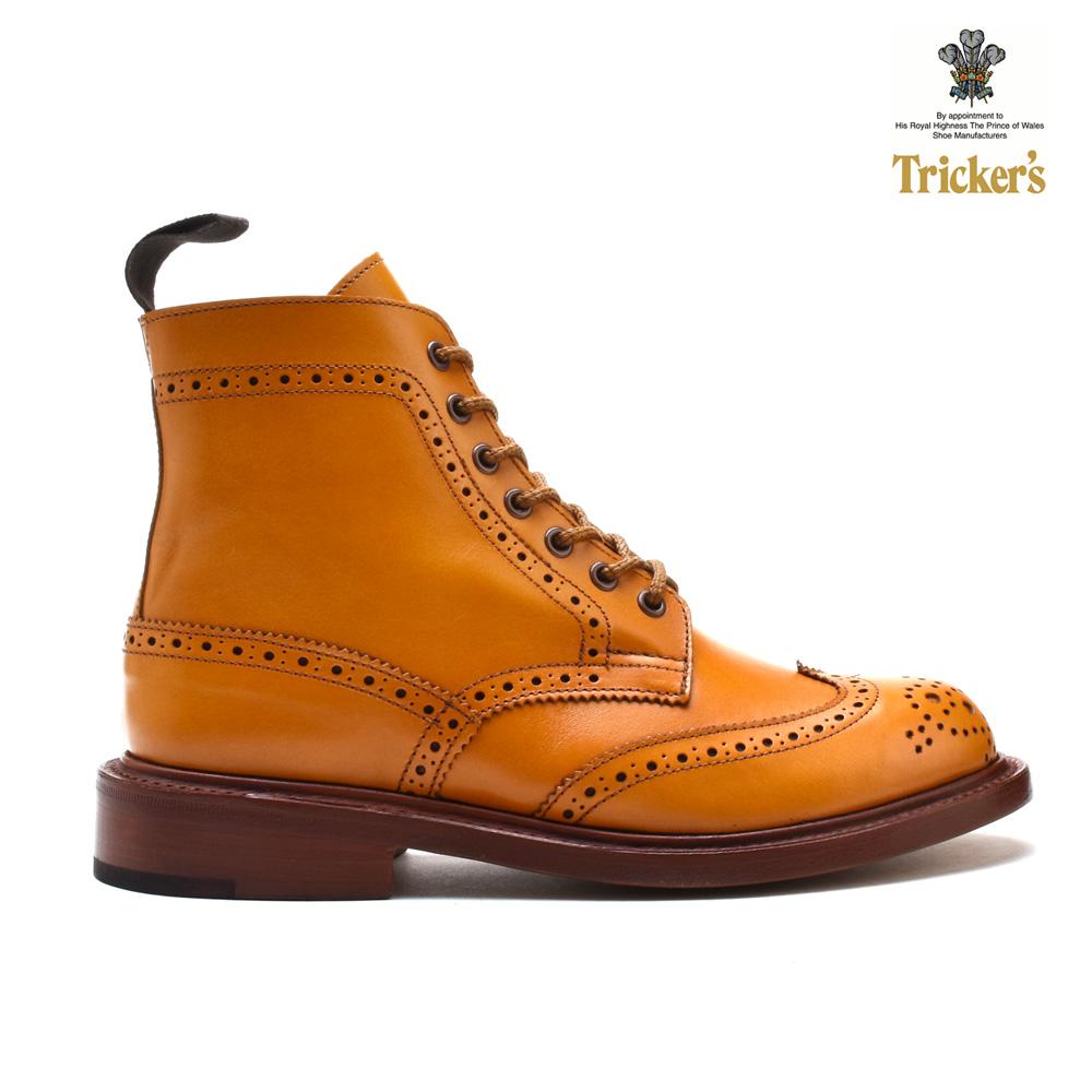 【はじめよう!!夏支度】【父の日】トリッカーズ TRICKER'S カントリーブーツ COUNTRY BOOT L5676 ダブルレザーソール ACORN ウィングチップ レディース ギフト プレゼント ラッピング
