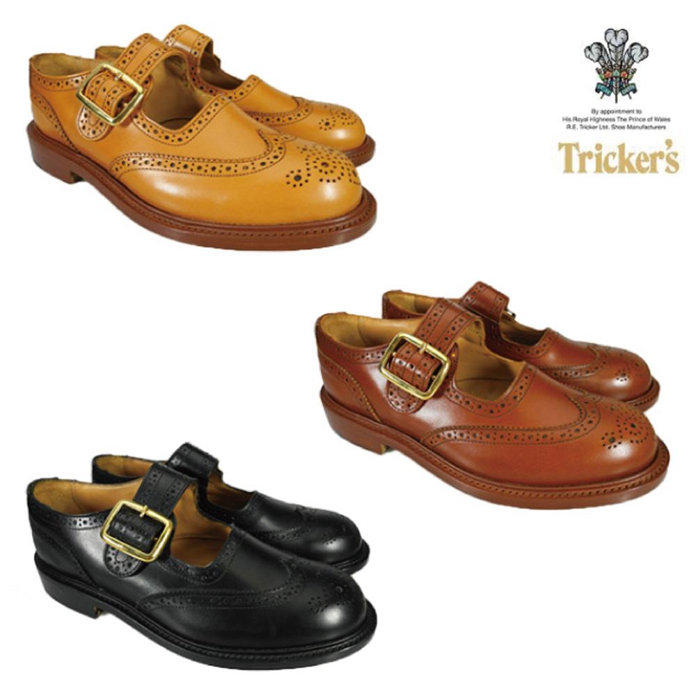 トリッカーズ TRICKER'S L6011 BUCKLE BROGUES SHOES L6011 ダブルレザーソール バックル ブローグシューズ Tricker's