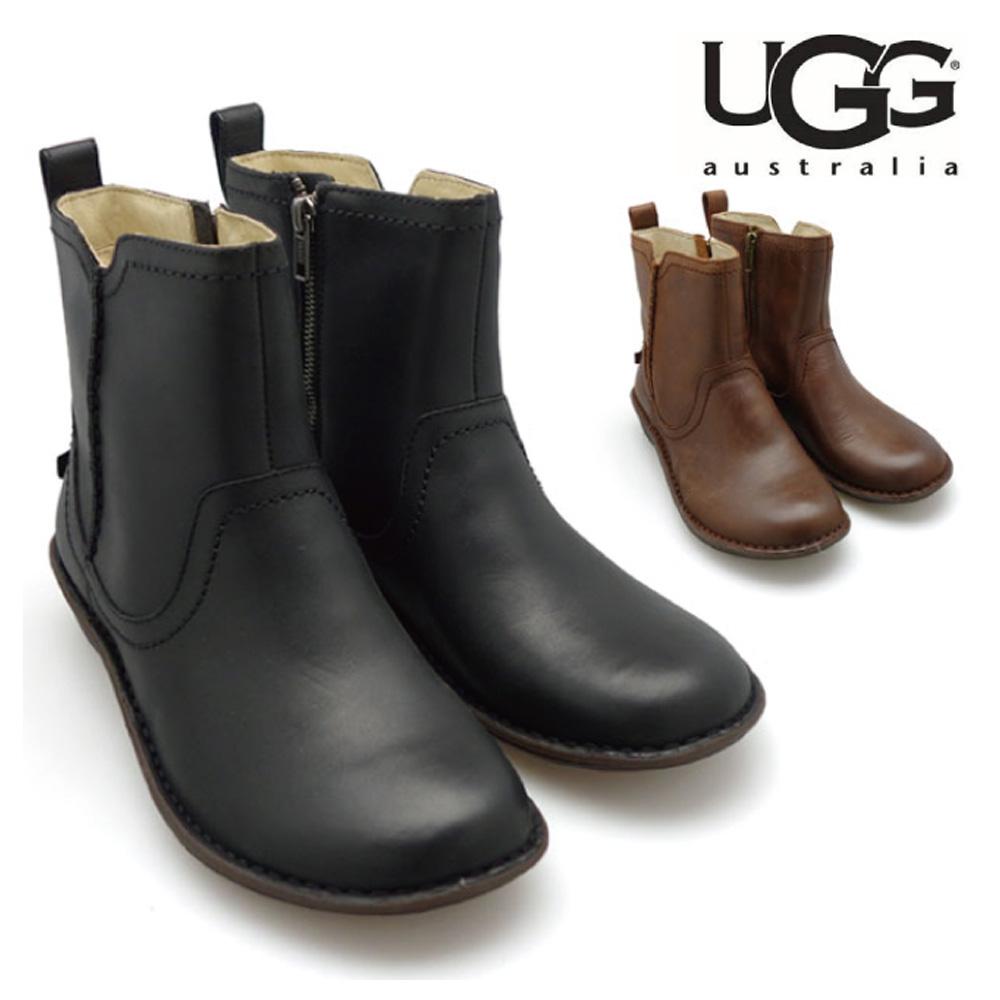 UGG アグ Australia 1004177 Women's Neevah Boots Zipper Sheepskin Lining Chocolate NIB