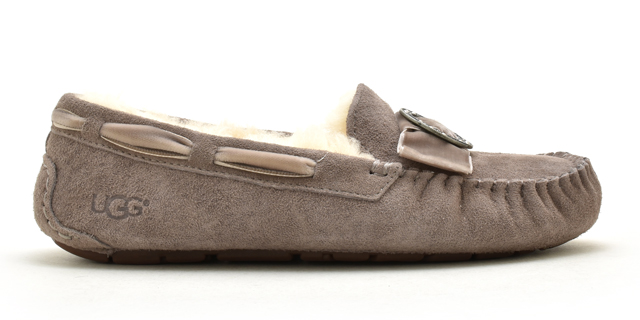 Ugg moccasins Dakota brooch slip-on UGG MOCCASIN DAKOTA BROOCH 1014427 Womens Sheepskin boots Sheepskin