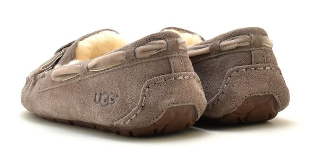Ugg moccasins Dakota brooch slip-on UGG MOCCASIN DAKOTA BROOCH 1014427 Womens Sheepskin boots Sheepskin