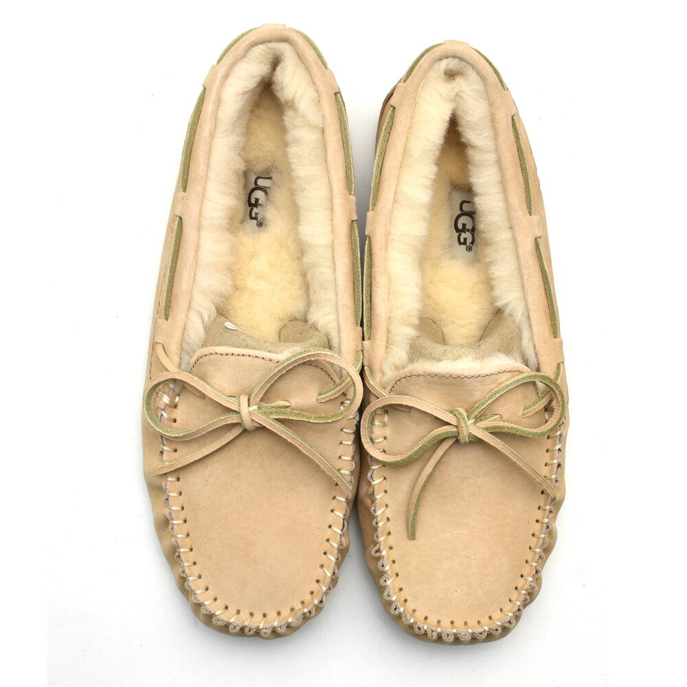 1d7049431f9 アグ UGG 5612 DAKOTA AMBERLIGHT Dakota moccasins suede moccasins slip-ons  amberite pink beige system Lady's