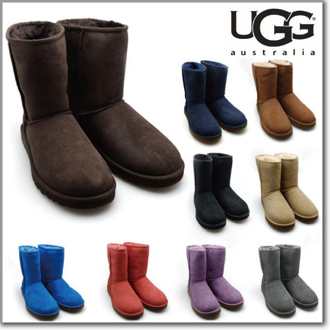 アグ UGG CLASSIC SHORT 5825 WOMENS CHOCOLATE CHESTNUTS NAVY ASTR クラシック ショート チョコレート チェスナット ネイビー シープスキン 羊毛 ムートン ブーツ シューズ レディース