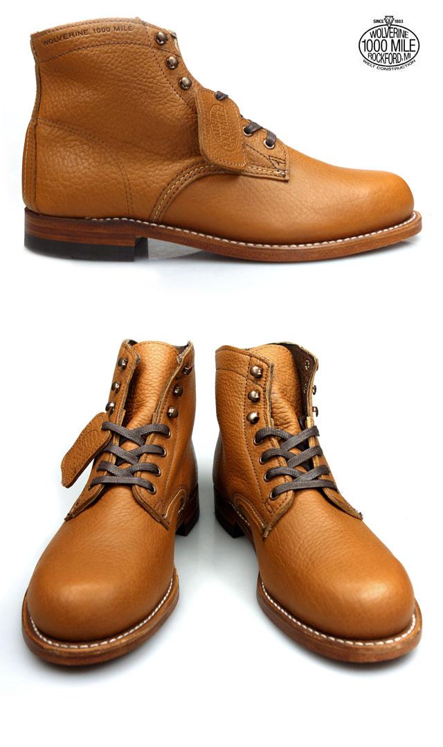 100th anniversary of Wolverine WOLVERINE Centennial 1000MILE BOOTS W00910 Wolverine 1,000 mile boot Vibram sole グッドイヤーウェルト method ◆