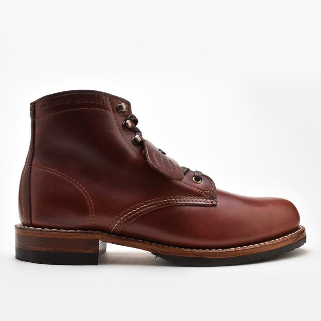 【お家DEお買い物】 ウルヴァリン 1000マイルブーツ WOLVERINE W40196 ダークブラウン レザー メンズ ブーツ 1000 MILE BOOT EVANS DArk Brown MADE IN USA