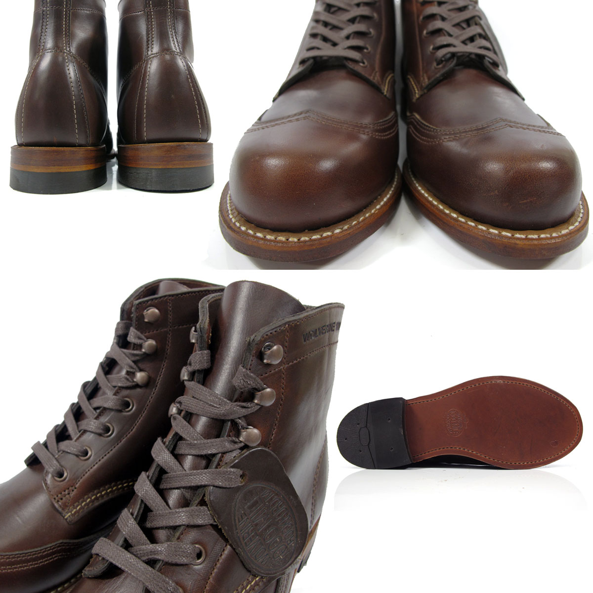 6377ec9d55a Wolverene 1,000 miles boots WOLVERINE W05342 brown Ho wink ROM Excel wing  tip men boots ADDISON 1000MILE Horween Chromexcel LeAther WINGTIP BOOT