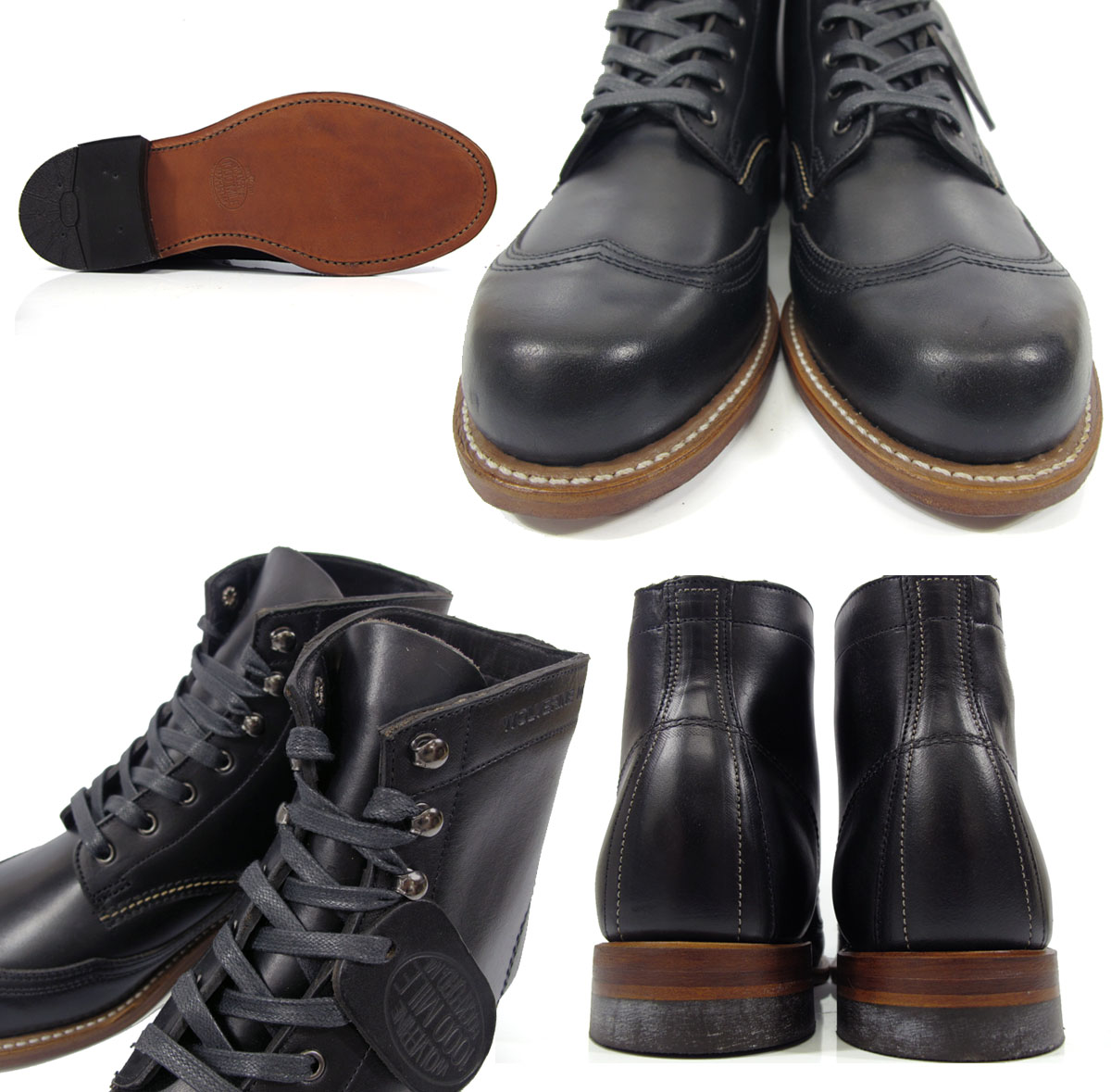 3418f0898d3 Wolverene 1,000 miles boots WOLVERINE W05344 sheepberry wink ROM Excel wing  tip men boots ADDISON 1000MILE Horween Chromexcel LeAther WINGTIP BOOT