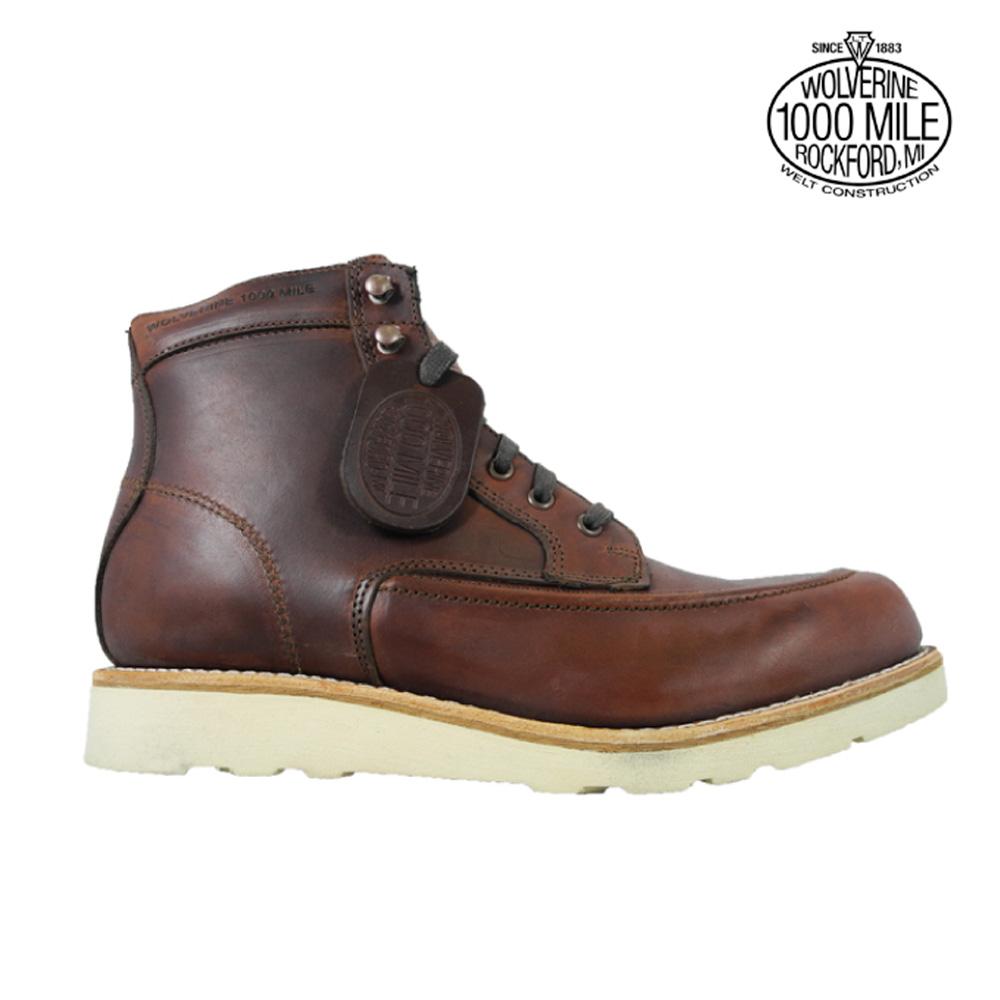 【お家DEお買い物】 ウルヴァリン 1000マイルブーツ WOLVERINE W00283 ラスト ホーウィンクロムエクセル メンズ ブーツ 1000 MILE EMERSON WEDGE BOOT Horween Chromexcel Leather