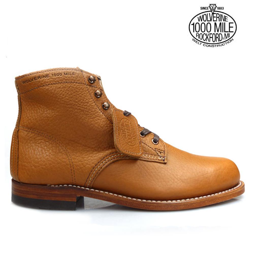 【お家DEお買い物】 ウルヴァリン 1000マイルブーツ WOLVERINE W00910 100周年 ビブラムソール グッドイヤーウェルト製法 メンズ ブーツ CentenniAl 1000MILE BOOTS