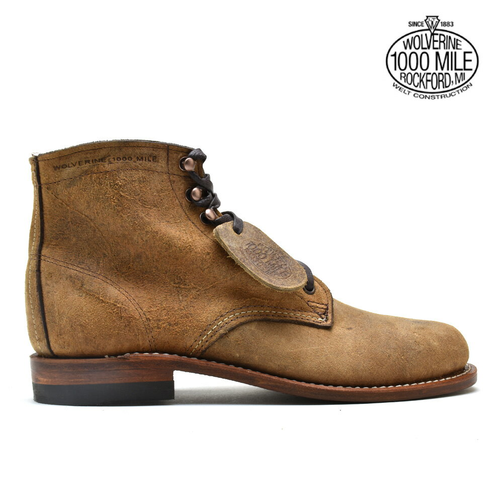 eaee3a26d66 Wolverene WOLVERINE W40304 1000 MILE 6 inches BOOT BROWN WAXY LEATHER boots  shoes brown Waku Schiele semen