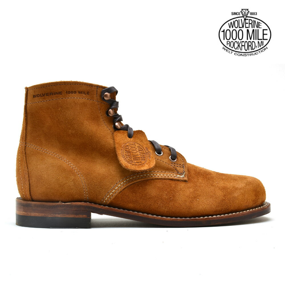 e764d18dc31 Wolverene WOLVERINE W40473 1000 MILE 6 inches BOOT CAMEL SUEDE boots shoes  camel suede men