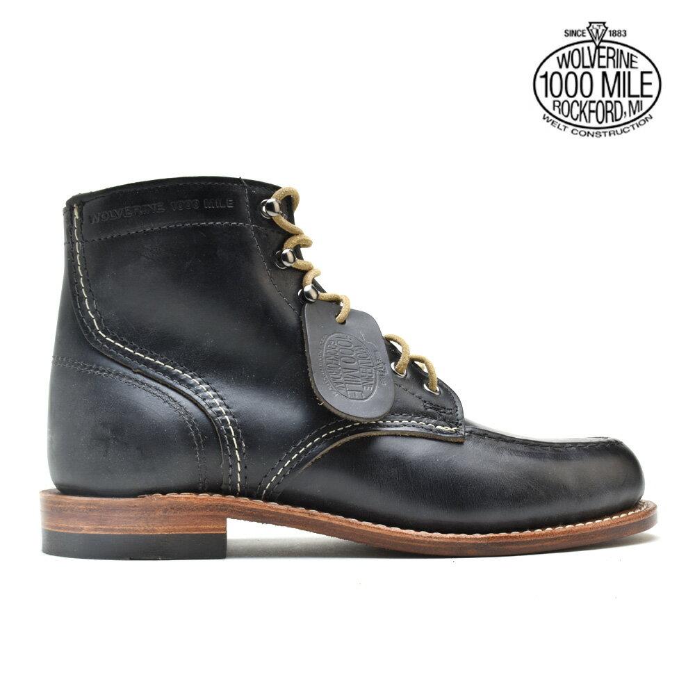 ウルヴァリン WOLVERINE W40504 1000 MILE 6インチ BOOT BLACK ブーツ シューズ ブラック レザー メンズ