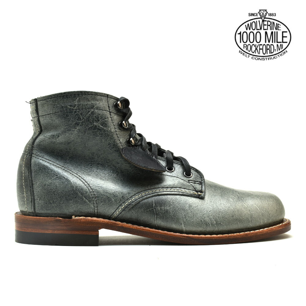 #A strong wind and crash of thunder! Wolverene WOLVERINE W40579 1000 MILE 6 inches BOOT GREY boots shoes gray leather men