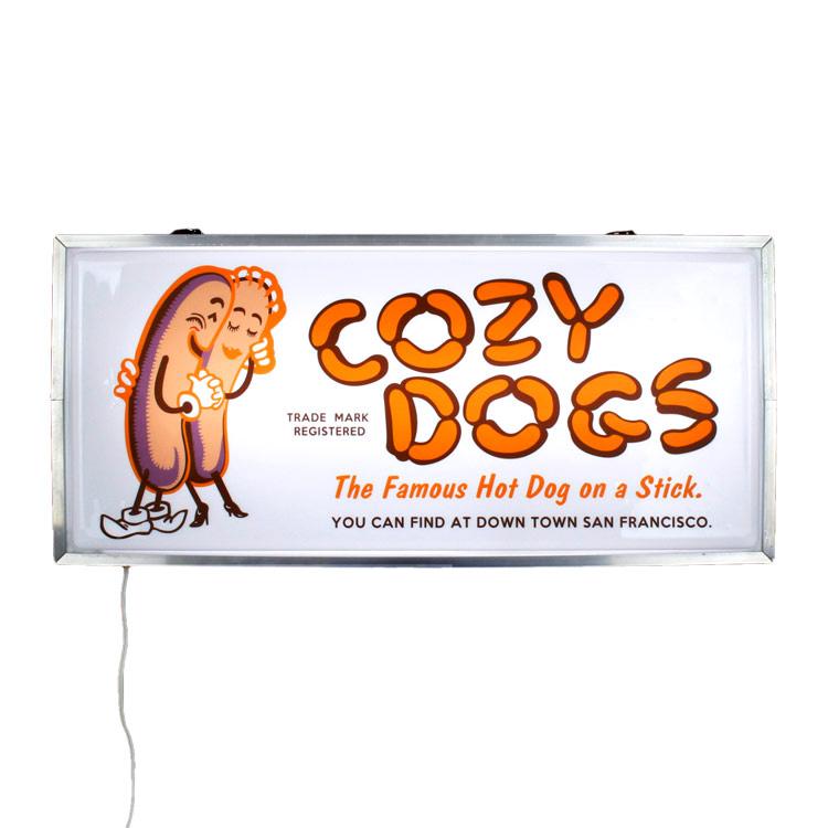 看板 LEDインポートサインボード HOT DOG 高さ28×幅98×厚さ10cm ライトアップサイン LED照明 吊り下げ・据え置き アメリカ雑貨