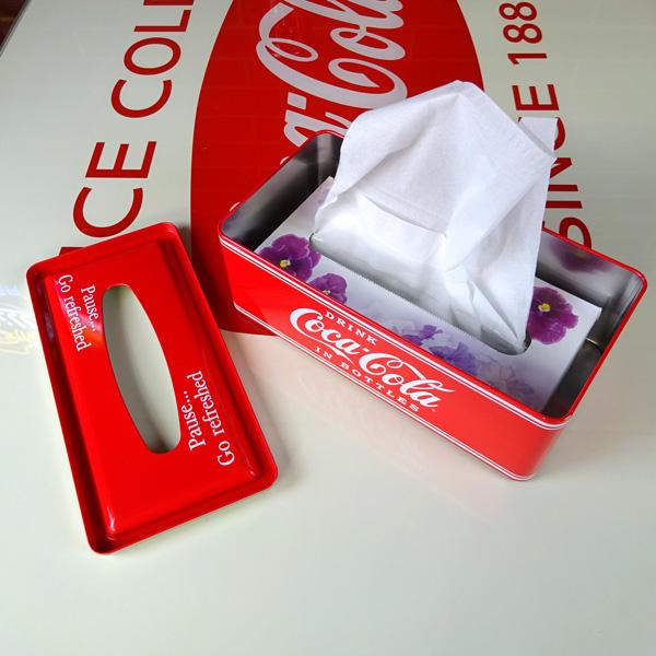 COCA-COLA BRAND 코카콜라 브랜드 ティンボックスティシュケース PJ-TC01