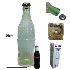 COCA-COLA BRAND Coca-Cola brand collectibles bottle style coin Bank/bottle at Style Coin Bank PJ-CB 01 / bottle bank / piggy bank, coin Bank and American goods and