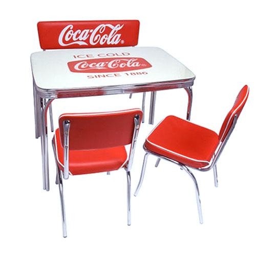 COCA-COLA BRAND コカコーラブランド ダイナーテーブル チェア ベンチシートの4点セット (PJ-600DL PJ-105C×2 PJ-120C ) インテリア 家具 アメリカ雑貨 アメリカン雑貨