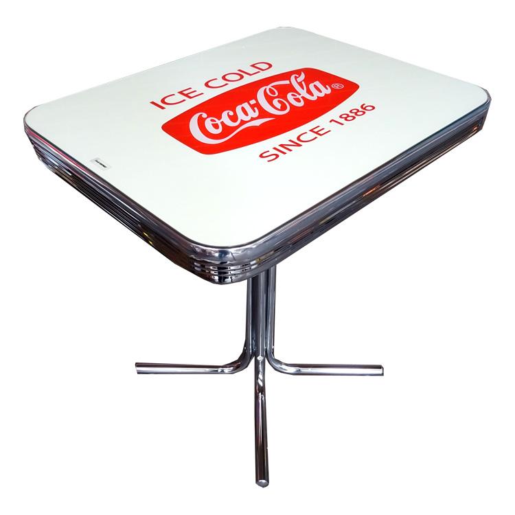 COCA-COLA BRAND コカコーラブランド ダイナーテーブルS 「Coke S-Table with Glass Top」 PJ-500DS インテリア 家具 コーラ雑貨 アメリカ雑貨 アメリカン雑貨